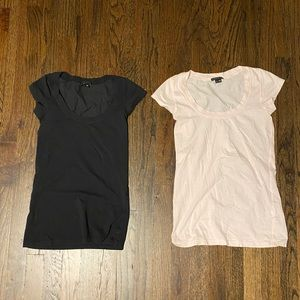 Theory Lot of 2 Basic Crew Neck T-shirt  P/TP
